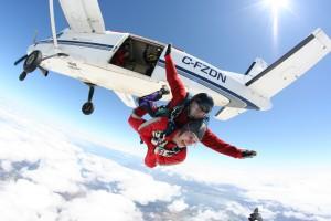 skydive stock